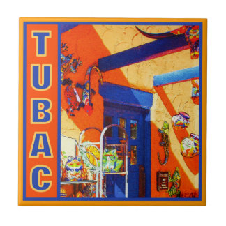 Bull's Head, Tubac Ceramic Tile