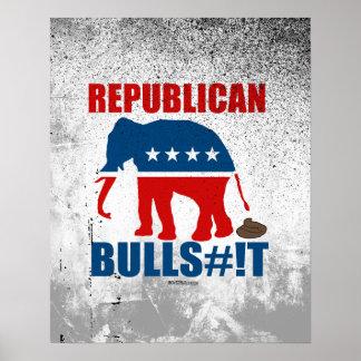 Bulls__t republicano póster