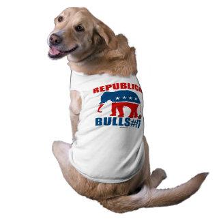 Bulls__t republicano playera sin mangas para perro