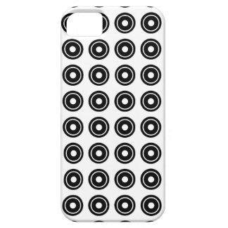 Bullseye Black iPhone Case