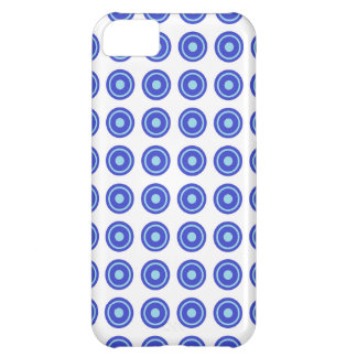 Bullseye Blue iPhone Case