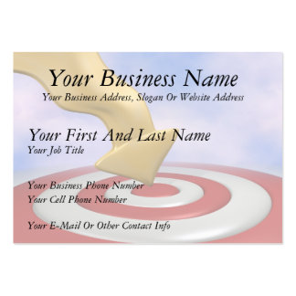 Bullseye! Large Business Cards (Pack Of 100)