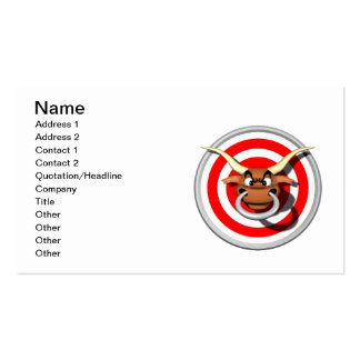 Bullseye Double-Sided Standard Business Cards (Pack Of 100)