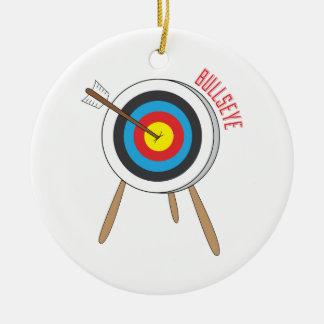 Bullseye Ceramic Ornament
