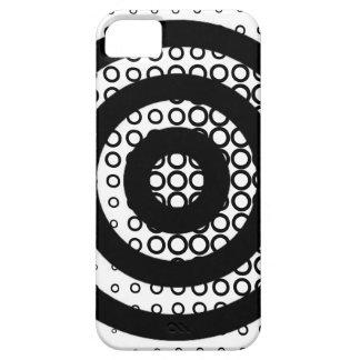 Bullseye & Circles Black & White iPhone Case iPhone 5 Covers
