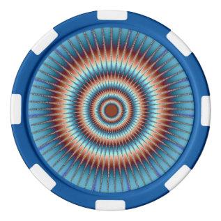 """Bullseye"" Clay Poker Chips by Snapdaddy at Zazzle"