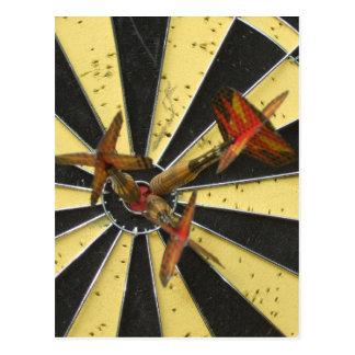 Bullseye Dart Board Postcard