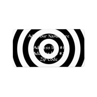 Bullseye Design Label
