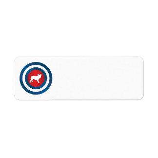 Bullseye Frenchie (b) Label