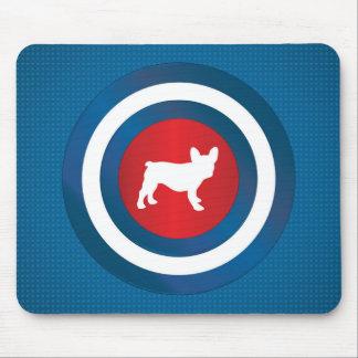 Bullseye Frenchie (b) Mouse Pad