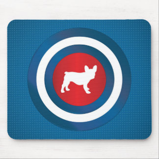 Bullseye Frenchie (b) Mouse Pads