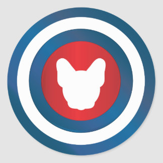 Bullseye Frenchie Classic Round Sticker