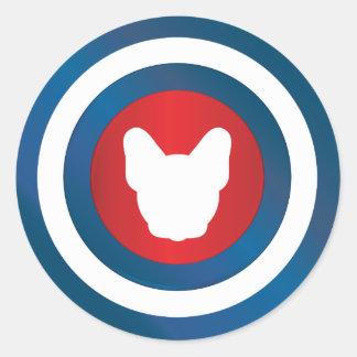 Bullseye Frenchie Stickers