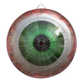 BULLSEYE Funny, Freaky Green Eyeball Dartboard