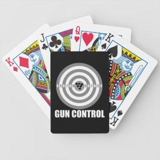 bullseye gun control bicycle playing cards