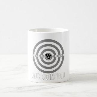 bullseye gun control coffee mug