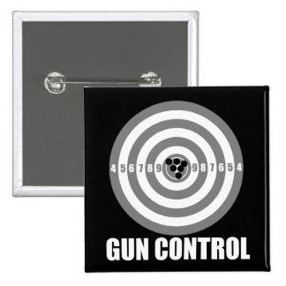 bullseye gun control pinback button