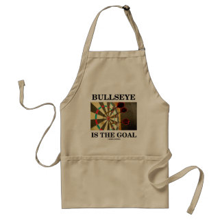 Bullseye Is The Goal (Three Darts On Dartboard) Adult Apron