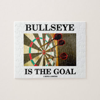 Bullseye Is The Goal (Three Darts On Dartboard) Jigsaw Puzzle