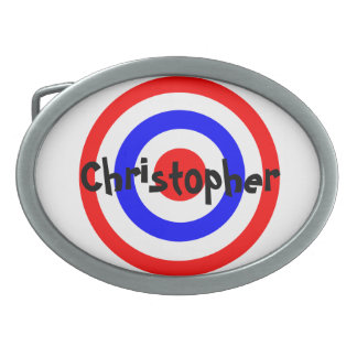 Bullseye Just Add Name Oval Belt Buckle