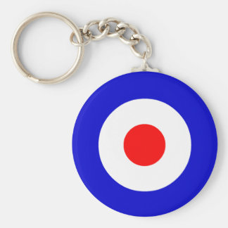 Bullseye Basic Round Button Keychain