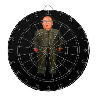 Bullseye! Kim John Il or is it Kim Jong Un?? Dartboard With Darts