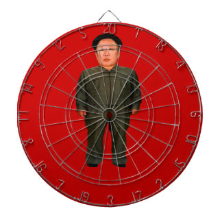 Bullseye! Kim Jong Il or is it Kim Jong Un? Dart Boards