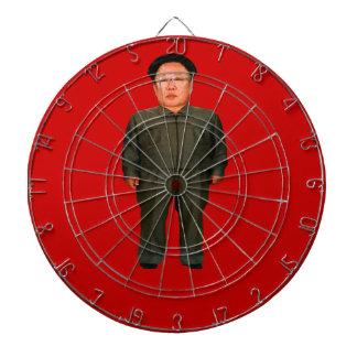 Bullseye! Kim Jong Il or is it Kim Jong Un? Dartboard