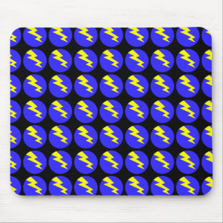 Bullseye Lightning Bolt Tiled Mousepad