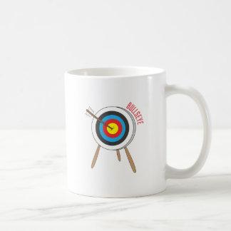 Bullseye Classic White Coffee Mug