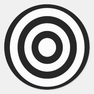 bullseye - On Target Round Sticker