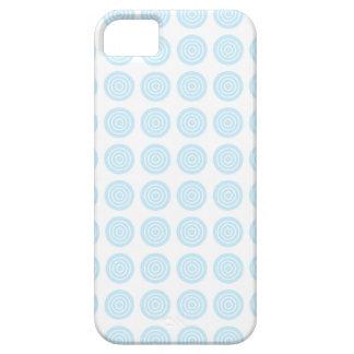 Bullseye Pastel Blue iPhone Case
