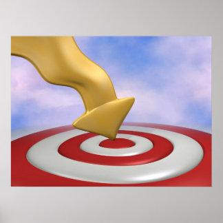 Target Bullseye Posters   Zazzle
