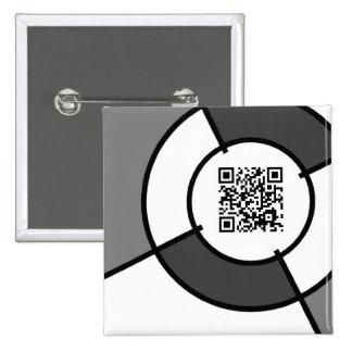 bullseye QR code 2 Inch Square Button