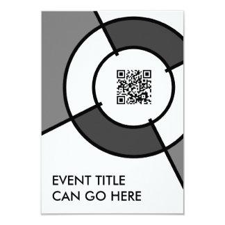 bullseye QR code 3.5x5 Paper Invitation Card