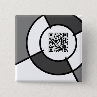 bullseye QR code Pinback Button