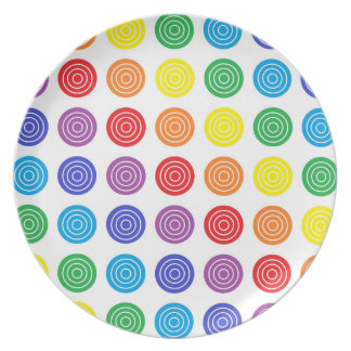 Bullseye Rainbow Dinner Plate