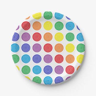 Bullseye Rainbow Paper Plates