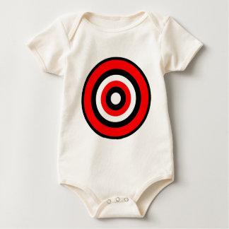 BullsEYE Red Black White Baby Bodysuits