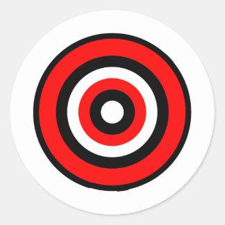 BullsEYE Red Black White Classic Round Sticker