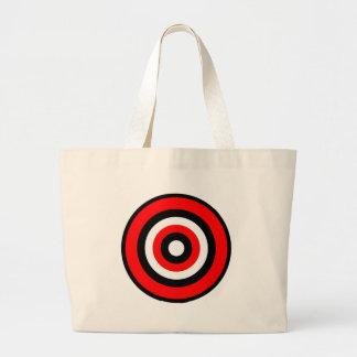 BullsEYE Red Black White Jumbo Tote Bag