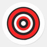 BullsEYE Red Black White Round Stickers