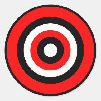 BullsEYE Red Black White Stickers