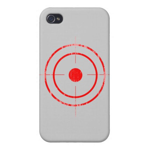 BULLSEYE RED Faded.png iPhone 4/4S Cases