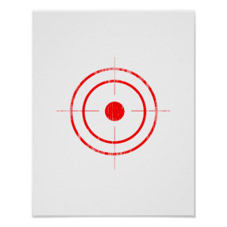 BULLSEYE RED Faded.png Poster
