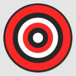 Bullseye Round Stickers