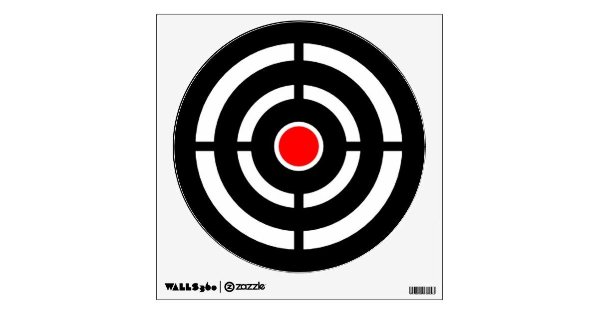 bullseye shooting range target practice wall sticker. Black Bedroom Furniture Sets. Home Design Ideas
