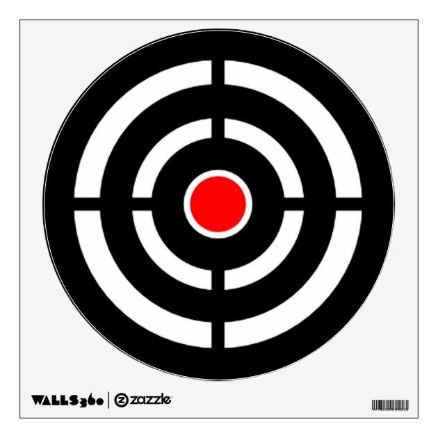 Bullseye Shooting Range Target Practice Wall Sticker