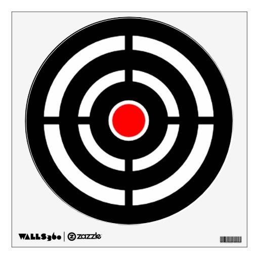 Bullseye Shooting Range Target Practice Wall Graphics