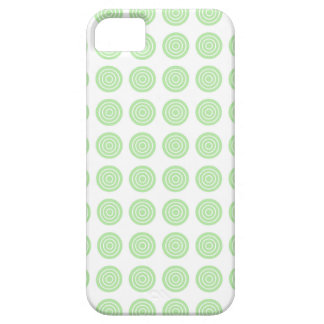 Bullseye Soft Green iPhone Case